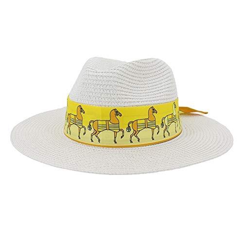 LUZIWEN Cinta Ancha Edge Sombrero de la Playa al Aire Libre de...