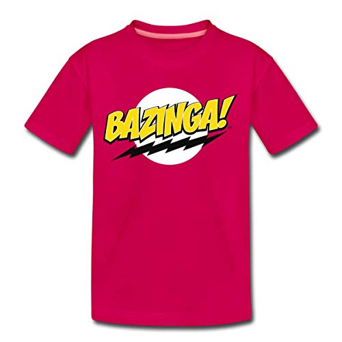 The Big Bang Theory Bazinga Spruch Sheldon Teenager Premium T-Shirt, 158-164, Dunkles Pink