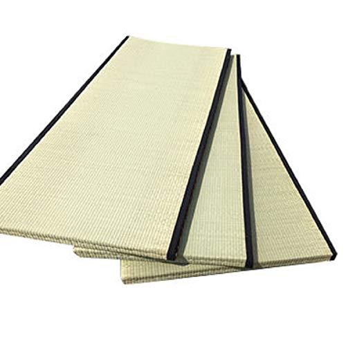BIOECOSHOP–Tatami japonés Original en Paja de arroz–Dimensiones: 90x 200cm, Altura 5,5cm, Peso 33kilogramos. Borde Negro. Fabricado en Italia