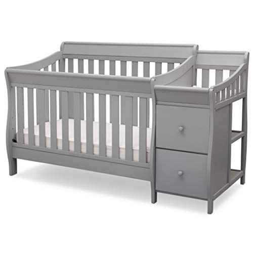 Delta Children Bentley S Convertible Crib and Changer (Grey) $280.17 + Free Shipping