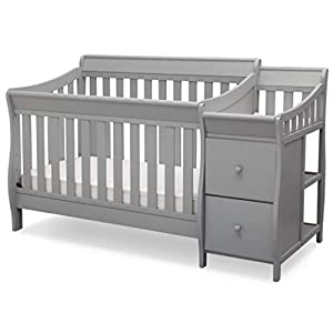 Delta Children Bentley S Convertible Crib and Changer, Grey