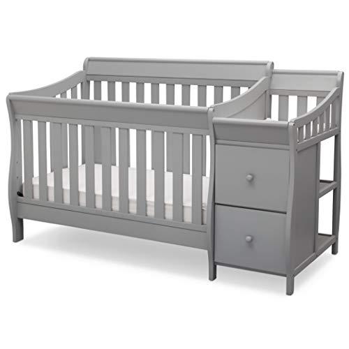 Delta Children Bentley S Convertible Crib and Changer, Grey