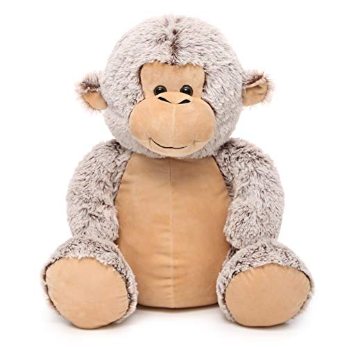 DOLDOA Soft Stuffed Animals Monkey Cute Plush Monkey Toy for Kids 18 inch Light Coffee