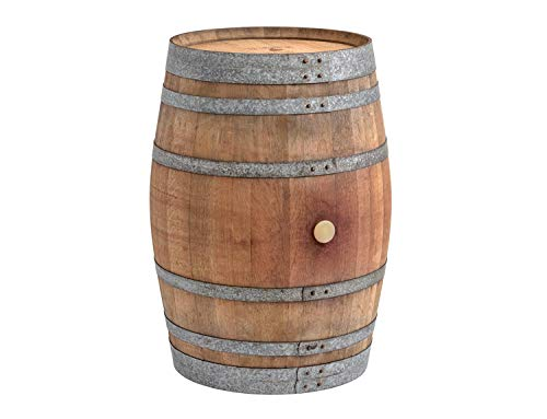 Temesso Stehtisch aus gebrauchtem Weinfass, Dekofass, Gartentisch aus Holzfass - Fass unbehandelt Orig