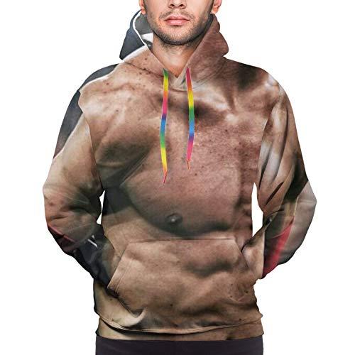 Tukiv Cristiano Ro-Naldo - Sudadera con capucha para hombre, impresión digital 3D, adecuada para la escuela