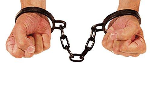 Plastic Wrist Shackles w/ Chain Costume Accessory