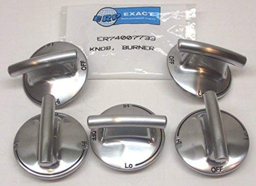 Cooking Appliances Parts 74007733-5 PACK Burner Knob for Jenn Air Gas Range Cooktop PS2375871 AP5668987