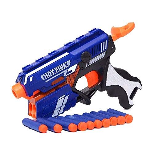 Gini n zuzu Manual Soft Bullet Gun Toy with 10 Safe Soft Foam Bullets Fun Target Shooting Battle Fight Game for Kids (Multi)