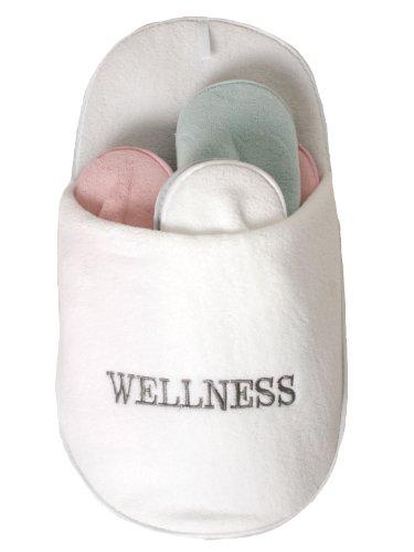 aikme Wellness Gäste-Pantoffel Set weiss one size