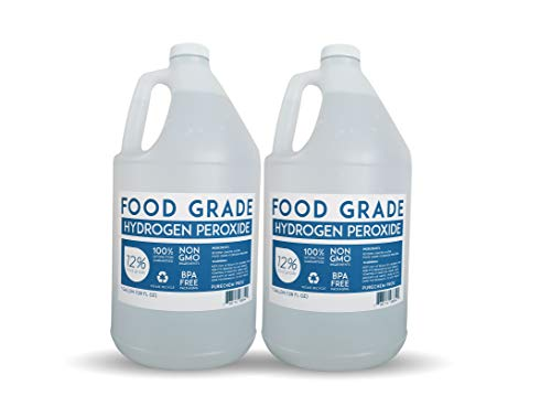 12% Food Grade Hydrogen Peroxide (2 Gallons) - Free Same Day or Next Day Shipping - No Added Stabilizers