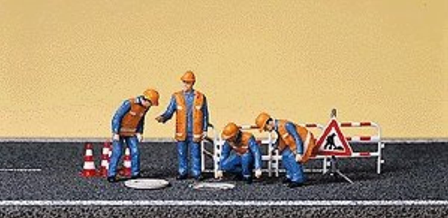 SEWER WORKERS  PREISER HO SCALE MODEL TRAIN FIGURES 10445