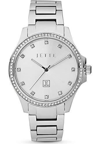 JETTE Damen-Uhren Analog Quarz One Size Silber 32012787