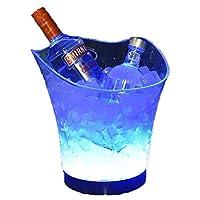 5L充電式発光アイスバケツ透明プラスチックバーKtv家庭用ビールドリンク赤ワインシャンパンバケツ