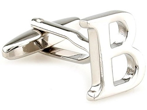 TEROON Cufflinks Lettre initiale 'B' [Bouton - NON paire]