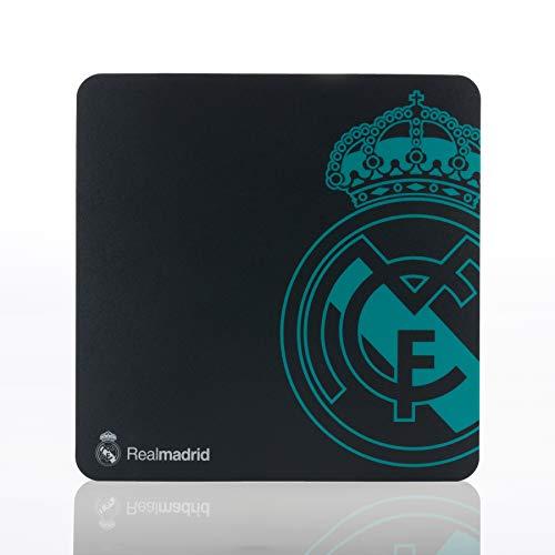 Real Madrid Alfombrilla para Ratón - Producto Oficial con el Escudo del Equipo de Color Verde Agua
