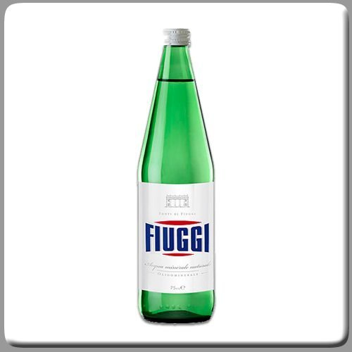 Fiuggi Still Natural Water Case of 6 x 1 Lt Glass Bottles by Fiuggi [Foods]