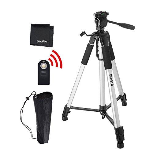"UltraPro 72"" Inch Heavy Duty Aluminum Camera Tripod + Wireless Remote Bundle for Canon Digital Cameras, Includes UltraPro Microfiber Cleaning Cloth"