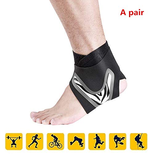 fitness knöchelband -Streifen für Herren und Damen - Schwarz oder Weiß - Maximaler Schutz: Hilft Verstauchungen zu verhindern oder sich von diesen zu erholen (M, White)