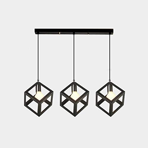 Towyoy Bar restaurante araña de tres modernos de lujo minimalista nórdico comedor sala de estar de hierro forjado altillo atmósfera lámpara LED de iluminación hogar personalidad creativa decorativa Lá