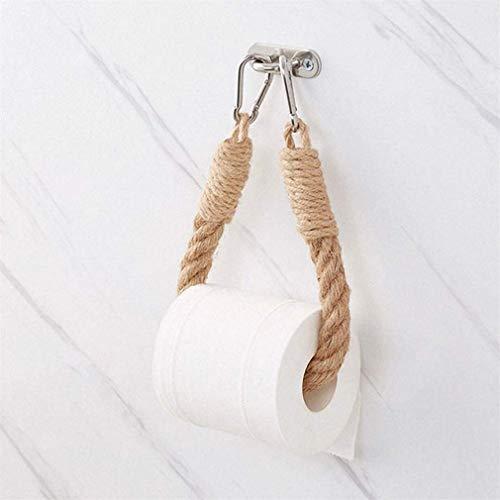 SAIBANGZI Porte-papier toilette/porte-serviette en corde de chanvre pour salle de bain et cuisine