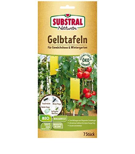 Naturen Gelbtafeln, gegen Weiße Fliege, Minierfliege, geflügelte Blattlaus, etc. in Wintergarten u. Gewächshaus, 7 St.