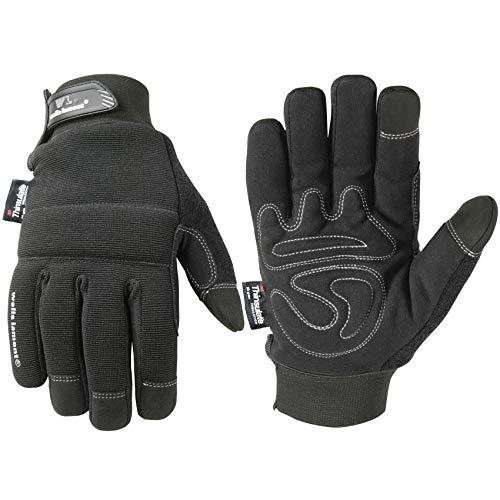 Wells Lamont Men's Touchscreen Thinsulate Black Winter Gloves, Large (7760L)