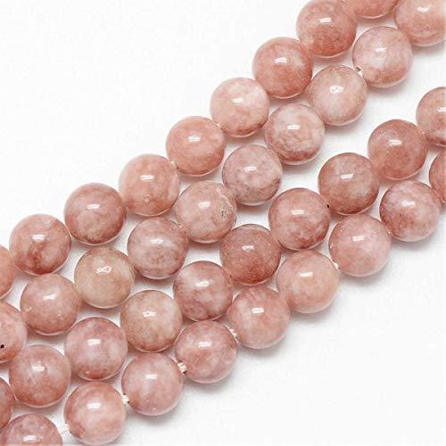 Sadingo Halbedelstein Mondstein Perlen (6 mm 60 Stück Rostrot-Braun) Natursteinperlen, Perlenarmbänder selber basteln