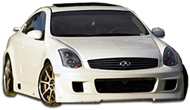 Brightt Duraflex ED-Z-757 Type G Front Bumper Cover - 1 Piece Body Kit - Compatible With G Coupe 2003-2007