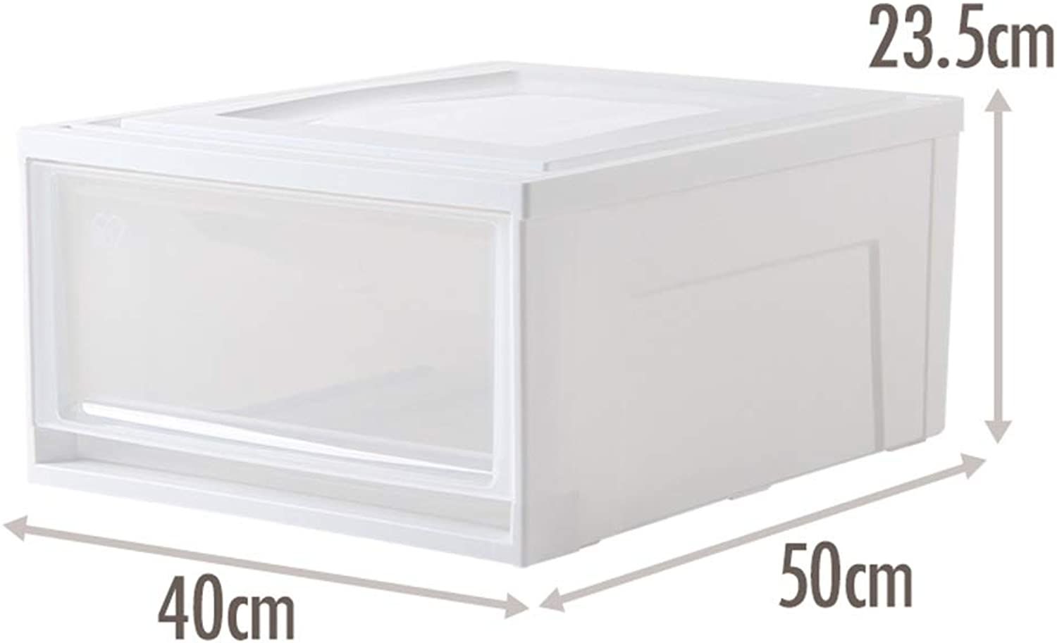 ZHANGQIANG Storage Basket Laundry Basket Plastic Beads Storage Containers Box with Lid (color   White, Size   Medium)