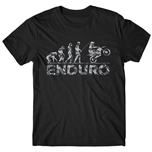 LaMAGLIERIA Herren-T-Shirt Evolution Enduro Grey Camo - 100{b8b63518bf479c0d1c2659748f4221b81493900b05aa360b672cab0df5b23347} Baumwolle, XXL, Schwarz