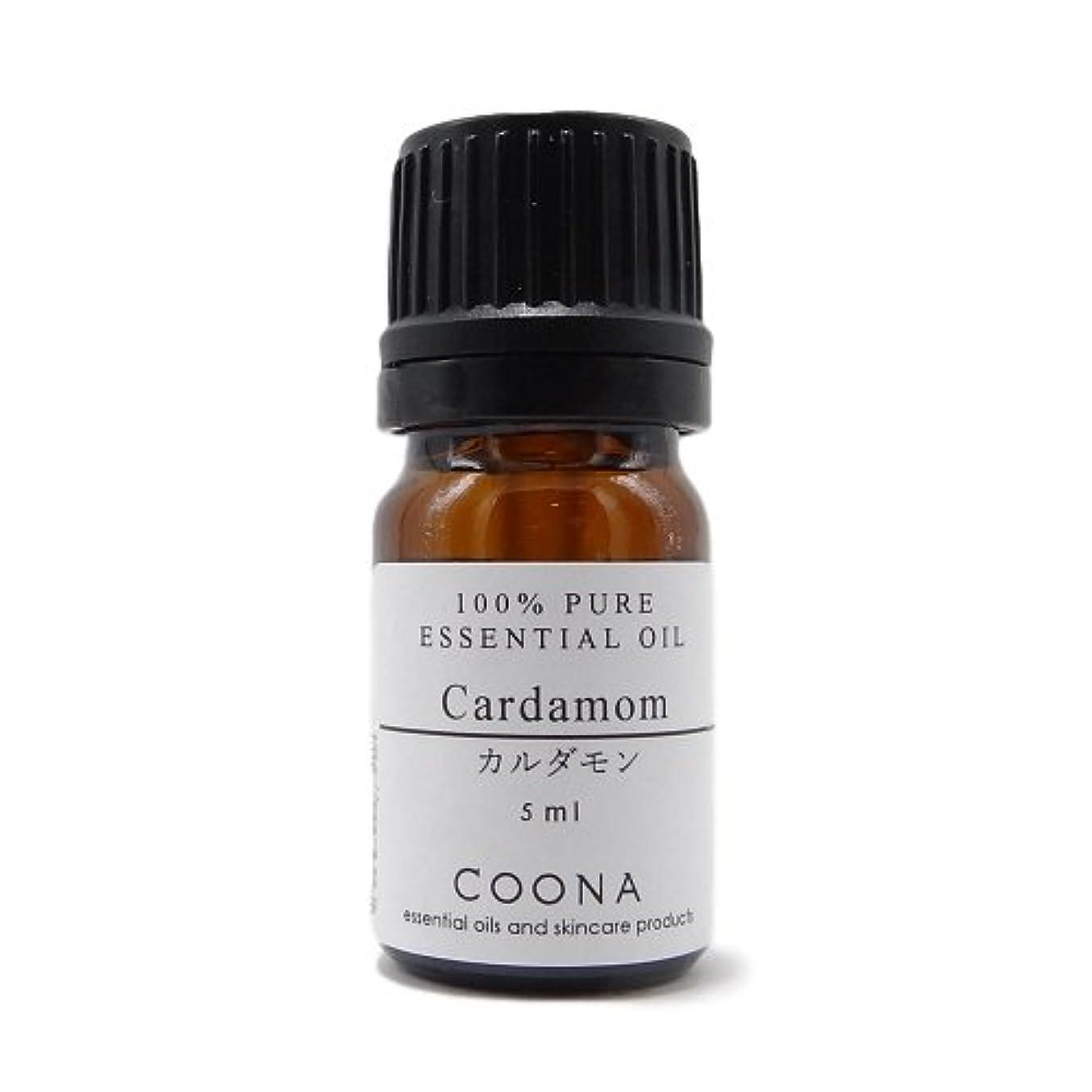 毛細血管丁寧固有のカルダモン 5 ml (COONA エッセンシャルオイル アロマオイル 100%天然植物精油)