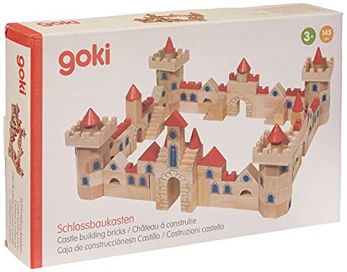 GOKI- Puzzles de maderaPuzzles de maderaGOKICaja de construcciónes Castillo, Multicolor (1) , color/modelo surtido
