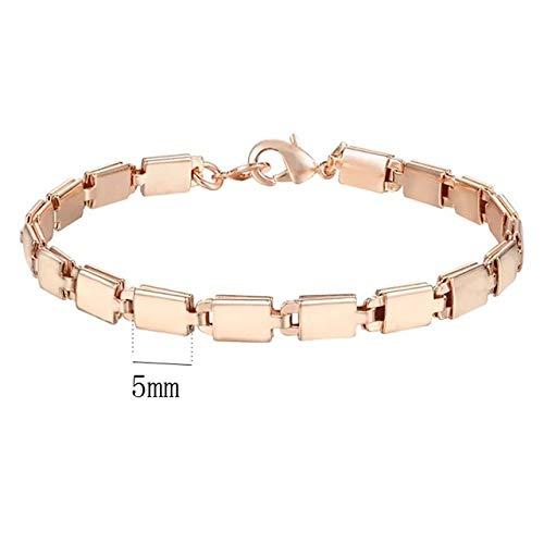 DASHUAIGE Armband 15 Stil Wählen Frauen Männer Mädchen Rose Gold Farbe Bordstein/Weben Armbänder Ketten Schmuck 18 Cm-23 cm