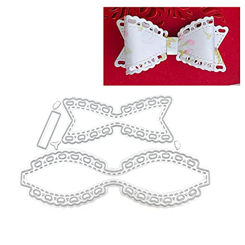 Metal Cutting Die Cuts, Love Bow-Knot DIY Crafts Template Paper Cards Cutting Dies Cut Stencils for DIY Embossing Card Making Book Tags Decorative Paper Dies Scrapbooking (C)
