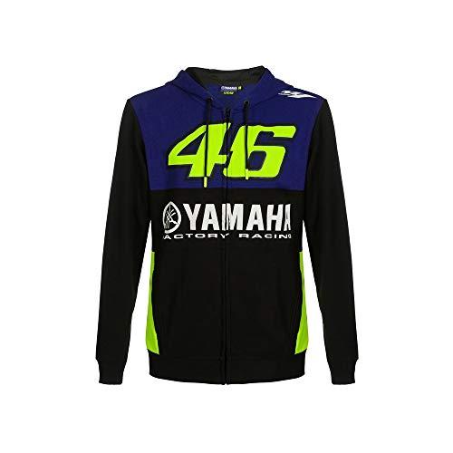 Valentino Rossi Yamaha Dual Racing Full Zip Hoodie Homme, Homme, YDMFL362209002, Bleu Royal., M