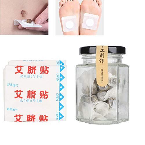 Parche de moxibustión, mejora el sueño, manos y pies fríos, alivia el dolor de cintura, etiqueta adhesiva para el tratamiento de acupuntura, transpirable y cómodo de usar, para pies y ombligo