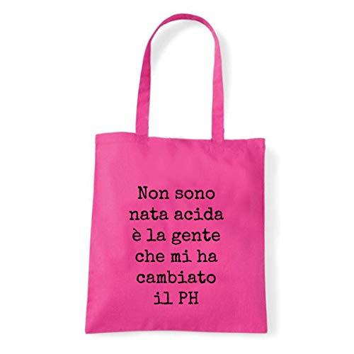 Art T-shirt, Borsa Shoulder Non sono Acida Ph, Fucsia