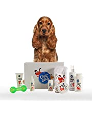 Captain Zack - The Cocker Spaniel Groom Box – Ultimate 8-in-1, Head-to-Paw Groom-Kit for Your Dog - (Shampoo +Conditioner +Dry Shampoo +Paw Butter +Toy +Towel) - pH Neutral and Paraben Free