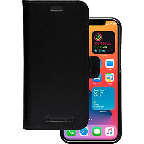 dbramante1928 Lynge, Echtleder-Schutzhülle für iPhone 12/12 Pro, schwarz