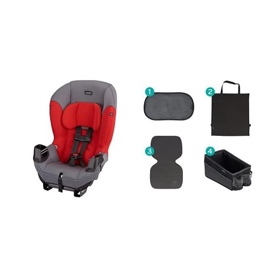 Evenflo Sonus Convertible Car Seat, Lava Red with Car Seat Accessory Kit