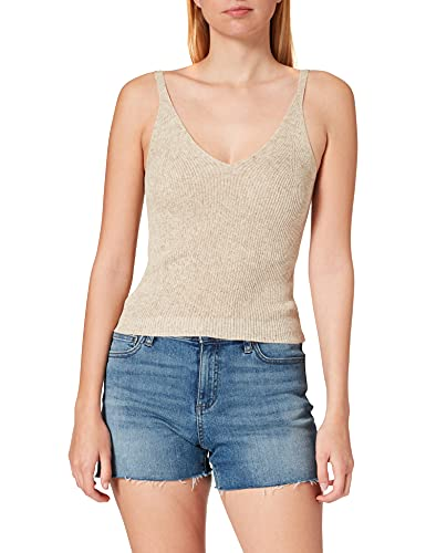 Only Onllina S/L Top Knt Noos Camiseta sin Mangas, Pumice Stone 2, XL para Mujer