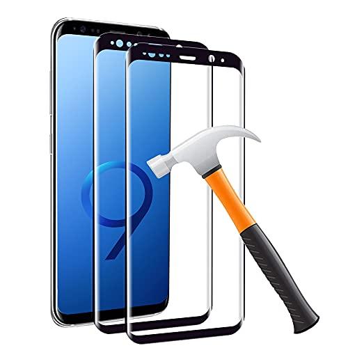 Carantee [2 Stück] Panzerglas Schutzfolie für Samsung Galaxy S9, 3D Volle Abdeckung, HD Klar, Anti-Bläschen,Anti-Kratzen, Ultradünn und hochauflösend Panzerglasfolie Displayschutzfolie