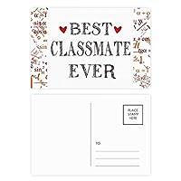 これまでに最高のクラスメイトの引用の友情 公式ポストカードセットサンクスカード郵送側20個