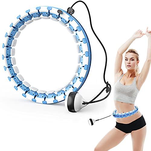 Smart Fitness Hula Hup Reifen Hoop, 26 Artikulierte Reifen Verstellbare Fitness Hoola Hoop mit Schwerkraftball, 360 ° Surround Gewichtsverlust Massage Hoop für Erwachsene, Kinder und Anfänger Abnehmen