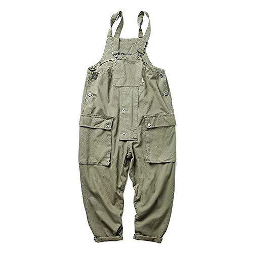Pantalones Casuales para Hombre Monos Sueltos de una Pieza de Moda Monos Casuales de Personalidad Multibolsillos de Moda XS