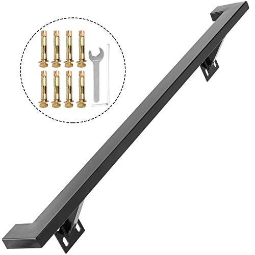 WLGQ Moderne Handläufe für Treppen 3 Fuß Handlaufhalterung Set Schwarz Moderne Handlaufhalterung Treppengeländer Innen Innen Handlauf für Treppen Schwarzer Handlauf Treppengeländer