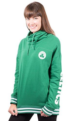 Ultra Game NBA Boston Celtics Womens Quarter Zip Fleece Pullover Sweatshirt with Zipper, Team Color, X-Large