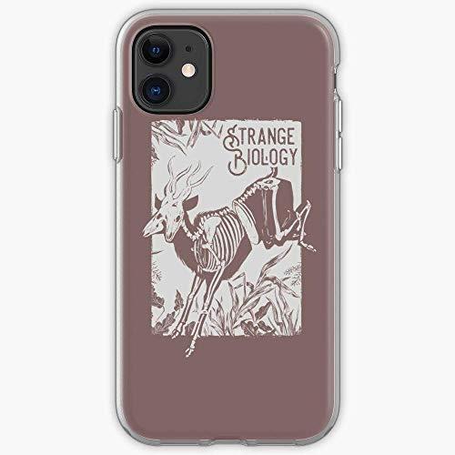 Fundas para teléfono Pure Clear TPU iPhone Samsung Xiaomi Redmi Note 8/9/10 Pro/Poco M3 Pro/Poco X3 Pro Funda-Vulture Culture Diprosopus Mutant Bones Antelope Skeleton Craniofacial Duplication