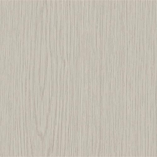 Caja de 50 azulejos de vinilo autoadhesivos (grano de madera gris)