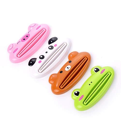 Lilon 4 unidades de pasta de dientes exprimidor de tubo de pasta de dientes dispensador de tubo...